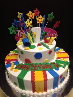 bright birthday cakes | Bright colors birthday cake | Flickr - Photo Sharing!