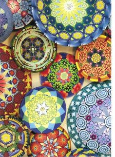 clay button, colour bowl, color bowl