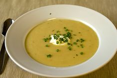 Creamy Potato & Leek Soup - i used 1lb of Gold petites, an extra cup of veg broth. and a spoon of greek yogurt and just a dash of heavy cream.
