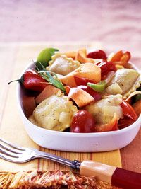 ravioli with sweet peppers