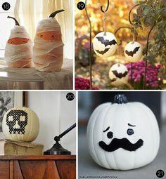 #DIY no-carve pumpkin ideas #Halloween