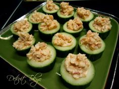 Langostino Cocktail Salad In Cucumber Cups