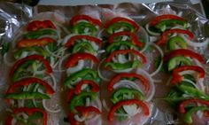 Swai fillets with peppers,onions, garlic, sweet basil. Cover in foil pouch and bake for 35 minutes. You dont need to salt and deep fry stuff for it to be good.