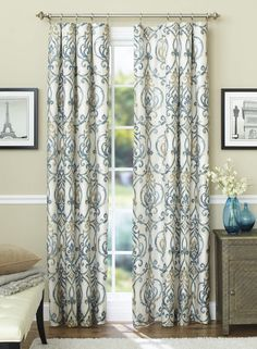 These stylish Ikat Scroll Curtain Panels are designed to block out light and reduce unwanted noise for a peaceful, good night's sleep.