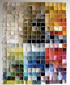 Paint chip wall art.