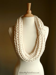 New KNOTICAL INFINITY SCARF - Thick infinity fashion scarf by www.BehindMyPicketFence.com