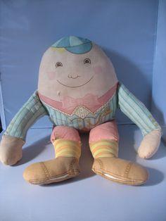 Vintage Humpty Dumpty Rag Doll 1970's Cute Nursery Rhyme on Etsy, £9.00