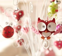 Pier 1 Ornaments bring whimsy and cheer valentin owl, holiday, idea, valentine day, owl ornament, christmas, valentines day decorations, owls, hoot