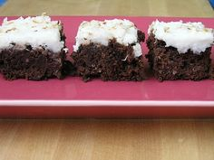 Coconut Brownies with Creamy Coconut Frosting
