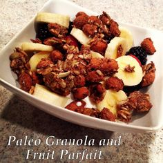 Paleo Granola and Fruit Parfait with Cavewoman Granola