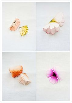 Paper flowers by Lyndie Dourthe