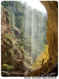 Tonto Natural Bridge - When I was in 5th grade my awesome teacher took us here to hike the waterfall trail. It was one of the best field trips EVER.