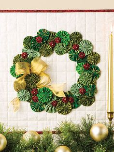 ~ Yo-Yo Wreath ~