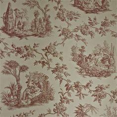 Lee Jofa Quatre Saisons Historic Mauve Toile Wallpaper - Gorgeous, top quality handprinted 18th century reproduction.