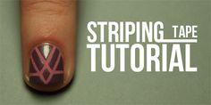 TUTORIAL: Striping Tape Manicure..via The Nailasaurus ღ❤ღ