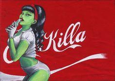 Coca-killa zombie pin-up