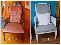 DIY reupholstered chair