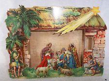 Vintage Germany Pop-up Nativity Scene Christmas Decorations