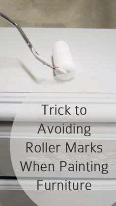 Trick to avoiding roller marks when painting furniture
