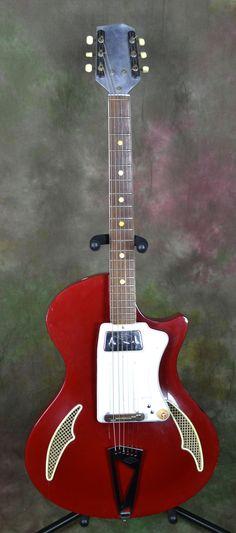 1960s Wandre Tri-Lam Bluejeans Teenager Electric Guitar Davoli Pickup
