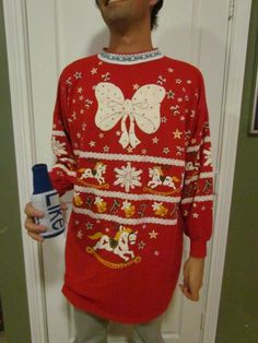"""THE Ugly Christmas Sweater store by @Emily Schoenfeld Elling is one of my favorite parts of the season - the source of your party needs :) Hilarious! It's an Ugly Christmas Sweatshirt (nightshirt?) """"one size fits all""""...."""