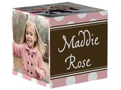 Dotted Rose Photo Cube by Shutterfly | Shutterfly