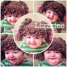Doll Hair hat crochet pattern  Cabbage Patch Wig  Easy by lizzziee, $3.99