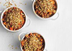 Pumpkin and Pear Crisp (substitute sweet potato) Bon Appetit