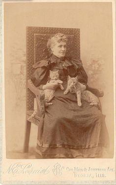 Vintage cat lady