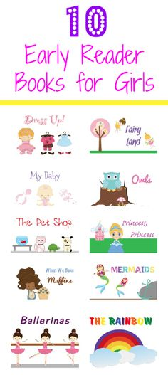 Printable books for new readers that are all about things girls love most.