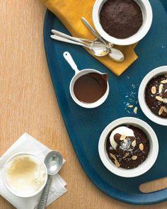 Super Bowl Ice Cream Desserts // Lighter Brownie Sundaes Recipe