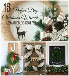 16 Perfect DIY Christmas wreaths - lizmarieblog.com