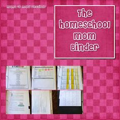 The homeschool mom binder, for homeschool organization.