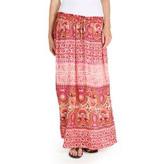 Angie Women's Long Floral Print Skirt