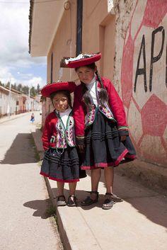 Traditional costumes of Chinchero, Peru