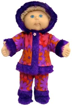 Winter fashion certainly won't be boring when you have this Cabbage Patch Kids doll clothes pattern.  Pdf pattern comes with 12 months access to video tutorials with Rosie showing you step-by-step how to make this super cool outfit!