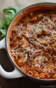 One Pot Lasagna Casserole : Easy Dinner Recipe in less than 30 minutes!