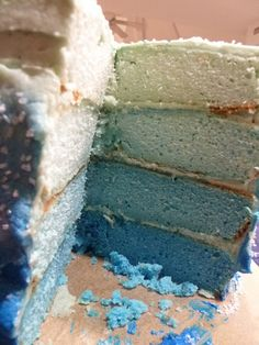Inside an Ombre Cake