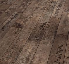 French wine crates vintage flooring