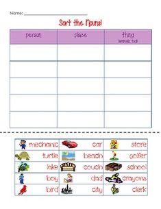 Noun Activities K-1