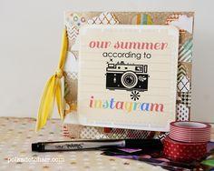 #Instagram mini scrapbook tutorial & free printable