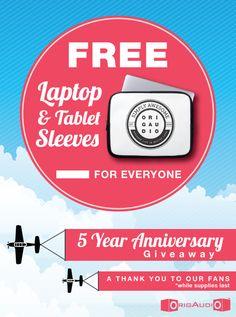 Free Tablet or Laptop sleeve
