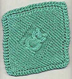 Owl Dishcloth Knitting Pattern