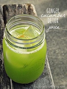Homemade Ginger Cucumber Detox Juice www.jansweightlosssystem.com cleansing diet, cucumb detox, ginger cucumb, raw food recipes, detox drinks, detox juices, gingers, limes, parsley