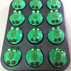 Crocodile cupcakes for Peter Pan birthday party for Jonah & Hailey :)