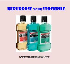Repurpose Your Stockpile–10 Uses for Listerine.  Did you know you can use it to control Mosquitos or replace deodorant.  That's a great way to get rid of some nasty chemicals.