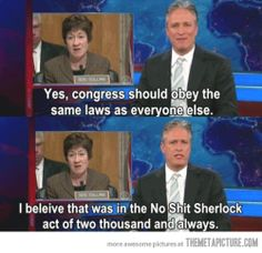 Congress should obey the same laws…