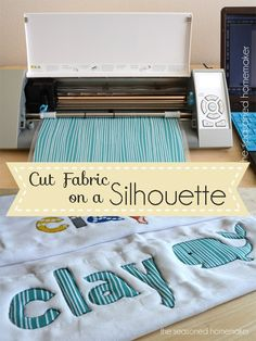 Cutting fabric on a Silhouette Cameo.