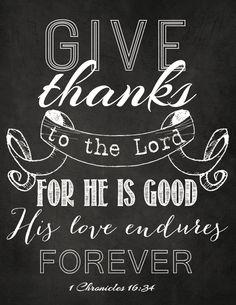 1 Chronicles 16:34 -