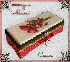 "шкатулка ""Маки"" - шкатулка,подарок девушке,оригинальный подарок,подарок женщине"
